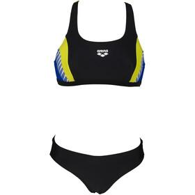 arena Threefold Bikini Women, black/neon blue/soft green